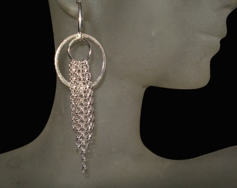 Handmade Sterling Silver and Multiple Chain Earrings