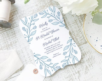 Printable Bridal Shower Template | INSTANT DOWNLOAD | Deco Vines | Word or Pages Mac & PC | 5x7 | Everly Paper Compatible