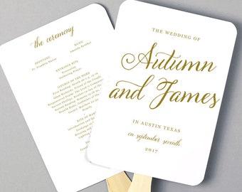 Instant Download DIY Wedding Program Fan Template Ocean