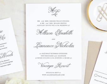 Printable Wedding Invitation Template | Simple Script | Word or Pages | MAC or PC | Editable Artwork Colors - Instant DOWNLOAD