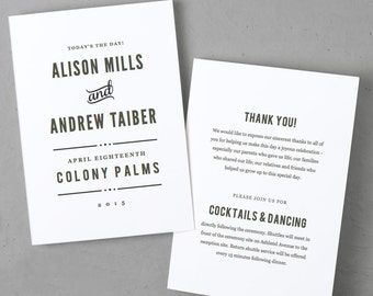 Wedding Programs Instant Download | Printable Wedding Program | Nightlife | Edit and Print at Home Instantly