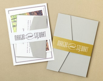 Printable Wedding Belly Band | INSTANT DOWNLOAD | Matchbook | Word or Pages | Easy DIY | Editable Artwork Colors
