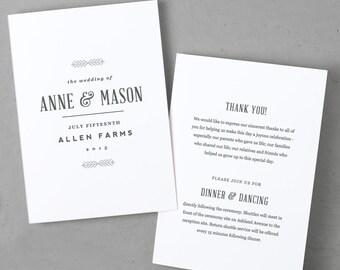 flat wedding program template download instantly gold etsy