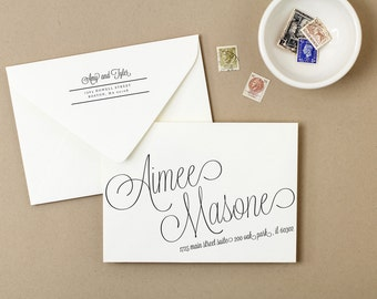 Printable Wedding Envelope Template | INSTANT DOWNLOAD | Script | Calligraphy Alternative | for Word or Pages Mac & PC
