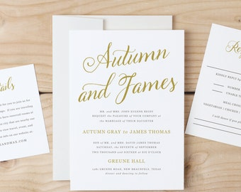 Instant DOWNLOAD Printable Wedding Invitation Template | Romantic Script | Word or Pages | MAC or PC | Editable Artwork Colors