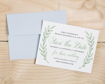 Printable Save the Date Template | INSTANT DOWNLOAD | Woodland Wreath | Word or Pages Mac & PC | 4.25x5.5 | Any Colors