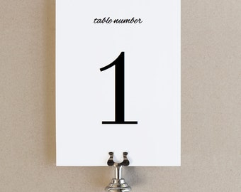 Instant Download - Calligraphy - DIY Printable Table Numbers