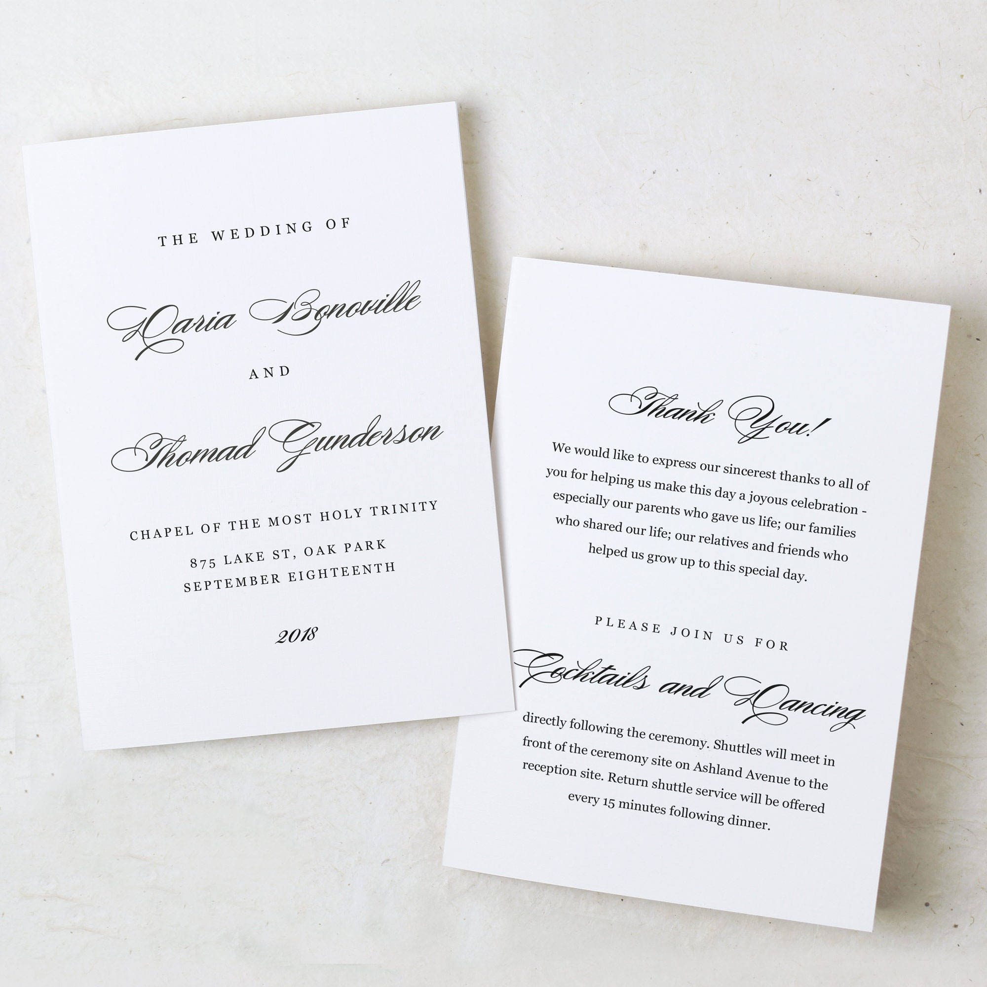 Wedding Program, Program Template, Instant Download, Formal Program ...