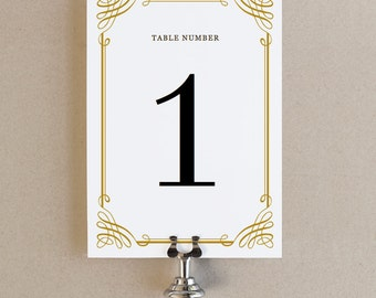Instant Download - Classic - DIY Printable Table Numbers