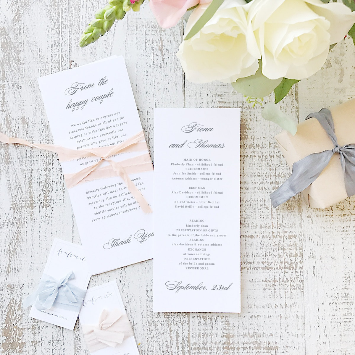 instant printable wedding program template instant download