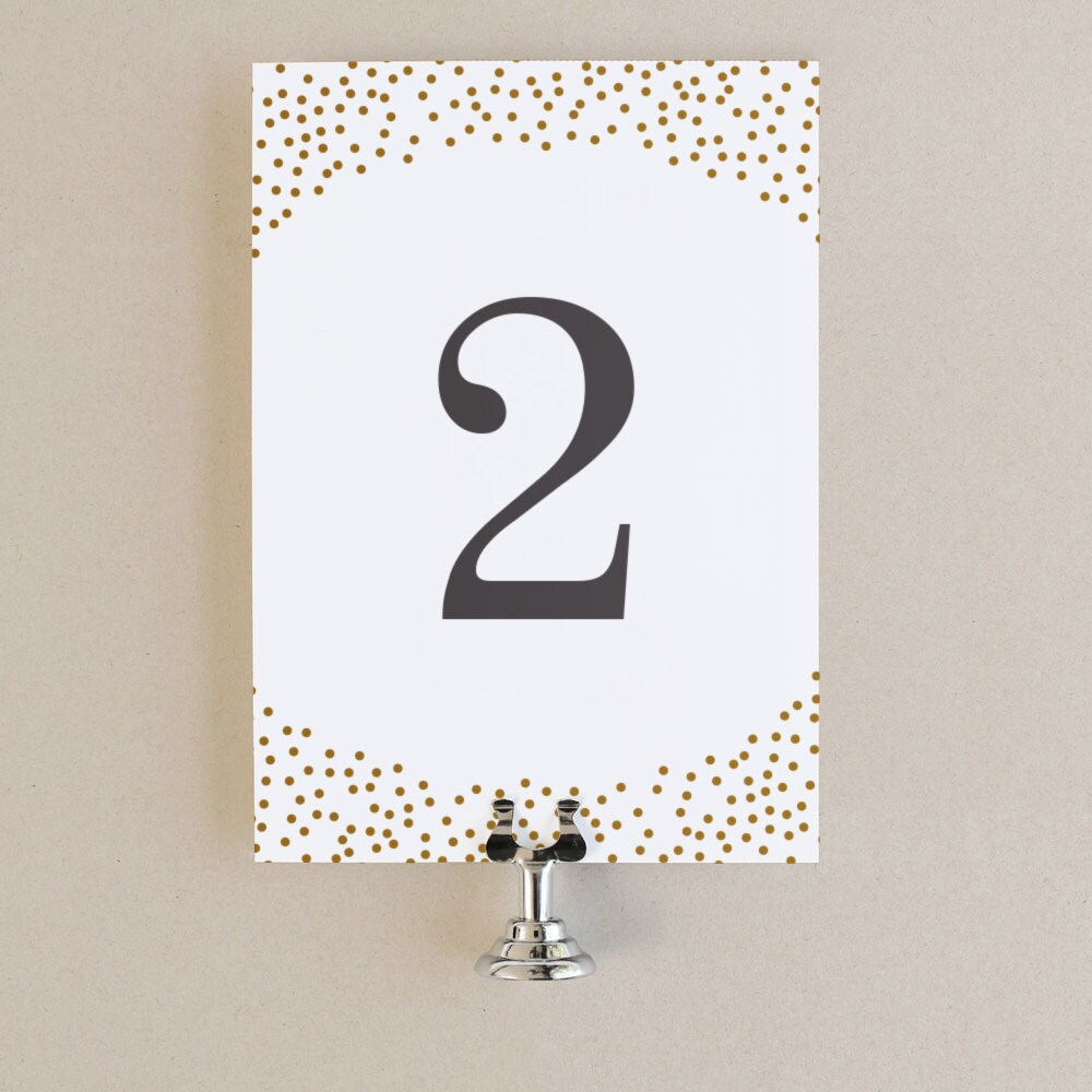 table numbers template diy printable instant download gold
