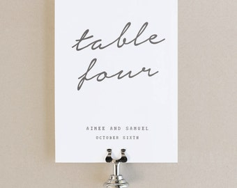 Table Numbers Template - DIY Printable  | Instant DOWNLOAD | Parcel | Flat 5x7 | Editable Colors | Mac or PC | Word & Pages