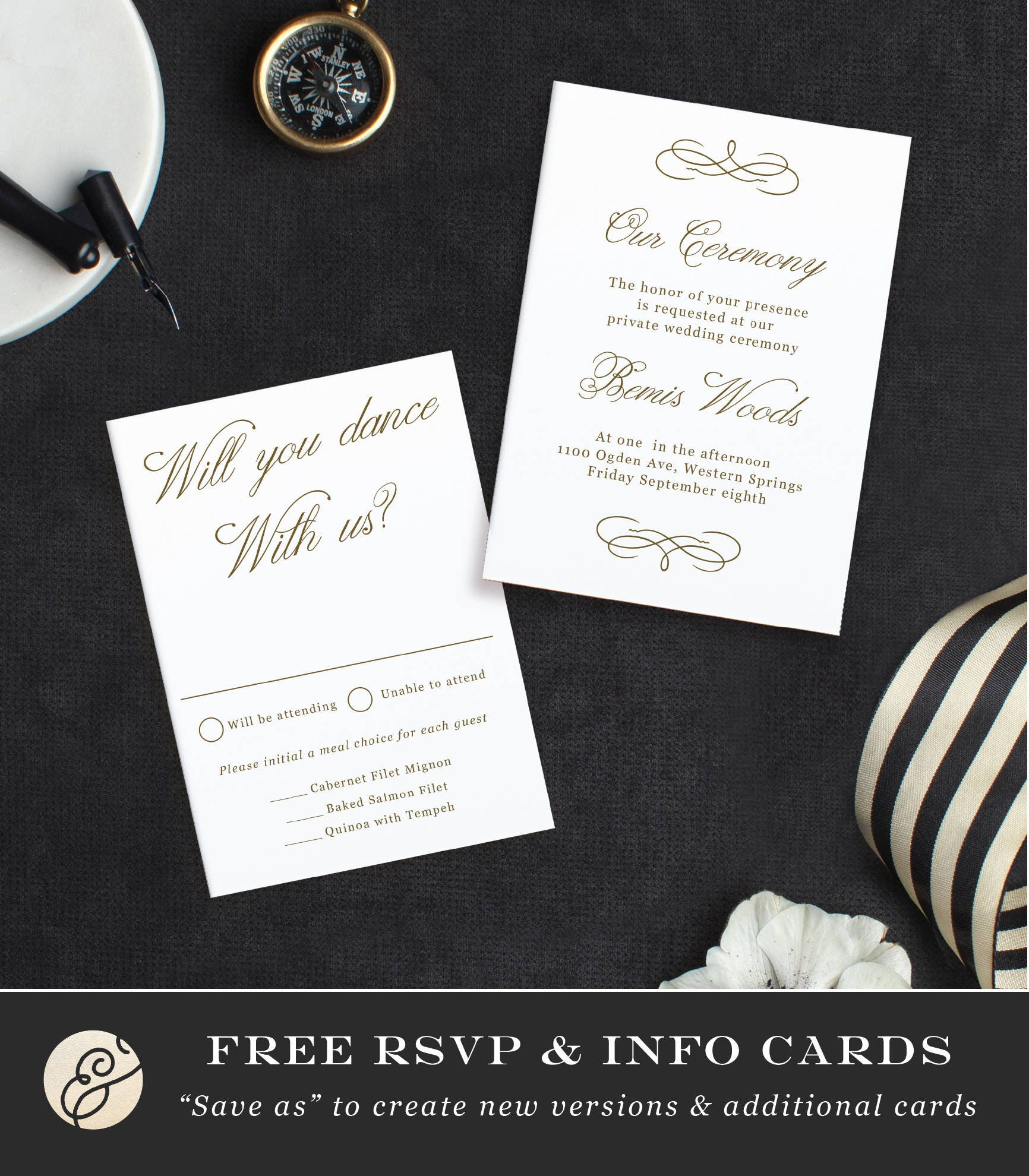 Printable template design your own wedding invitation template printable template design your own wedding invitation template word or pages mac or pc editable artwork colors instant download stopboris Gallery
