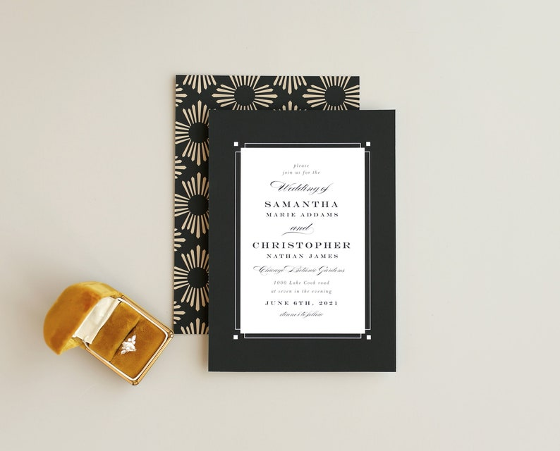 Wedding Invitation Template  Fall Formal image 0