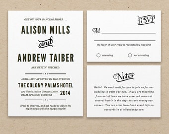 Printable Wedding Invitation Template | INSTANT DOWNLOAD | Nightlife | Word or Pages | Easy DIY | Editable Artwork Colors