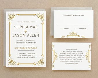 Printable Wedding Invitation Template | INSTANT DOWNLOAD | Classic | Word or Pages | Easy DIY | Editable Artwork Colors