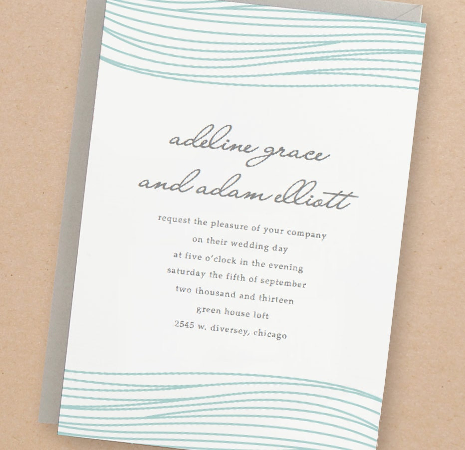 Printable Wedding Invitation Template Instant Download Ocean