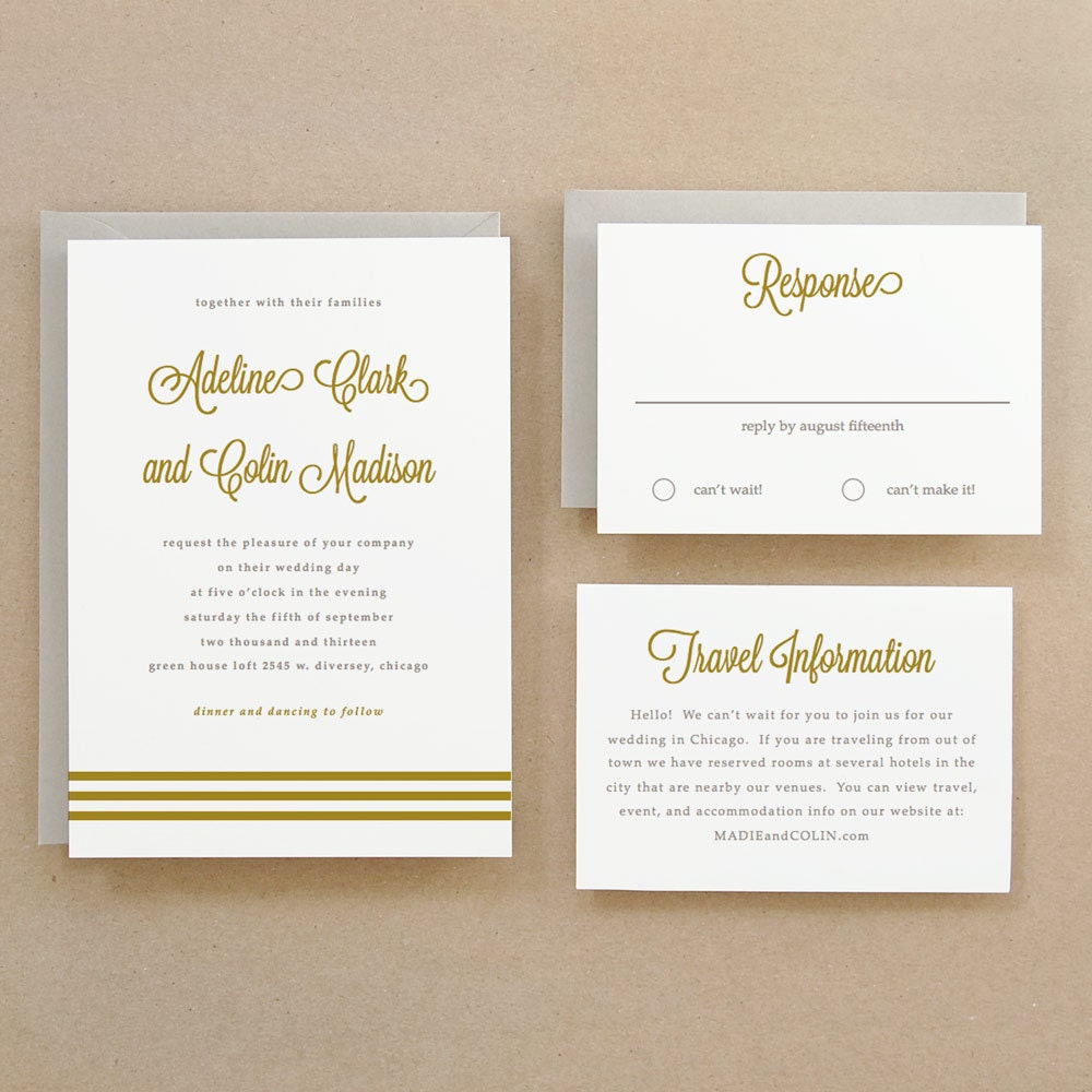 printable wedding invitation template instant download gold