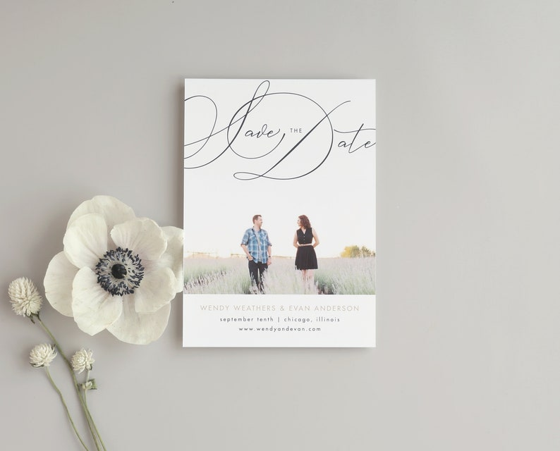 Script Names  Photo Save the Date Template image 0