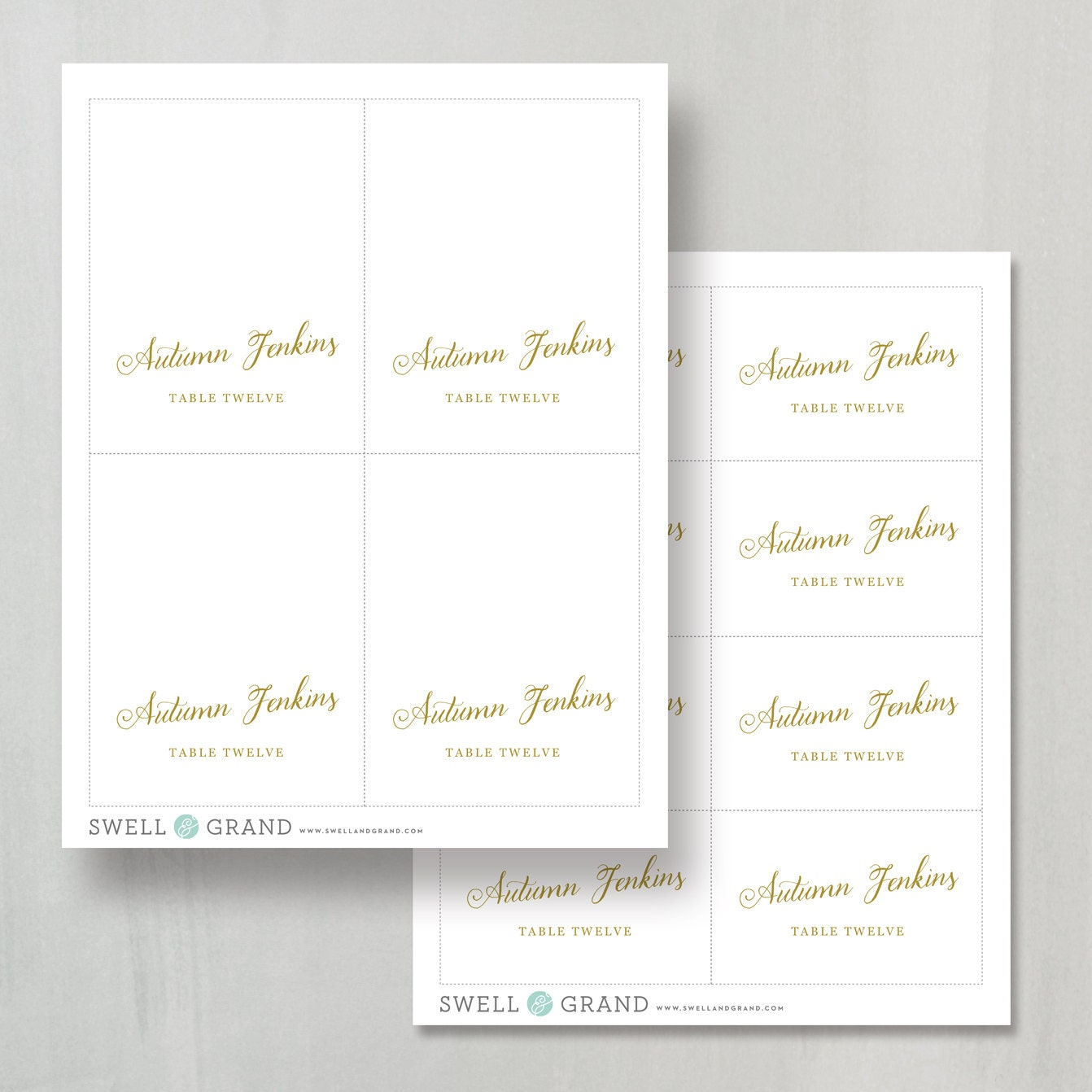 Printable place card template escort card template romantic script printable place card template escort card template romantic script 100 editable colors mac or pc flat and folded instant download maxwellsz