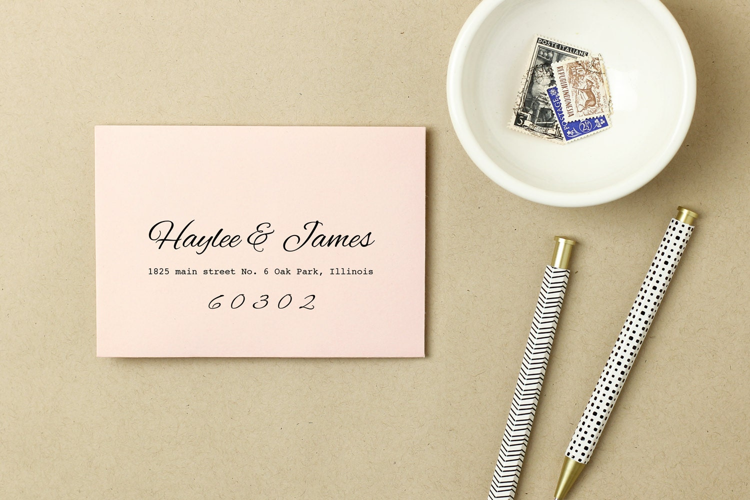 Printable Wedding Envelope Template INSTANT DOWNLOAD Peach - 5x7 envelope template word