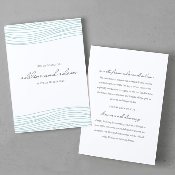 wedding program template for mac word