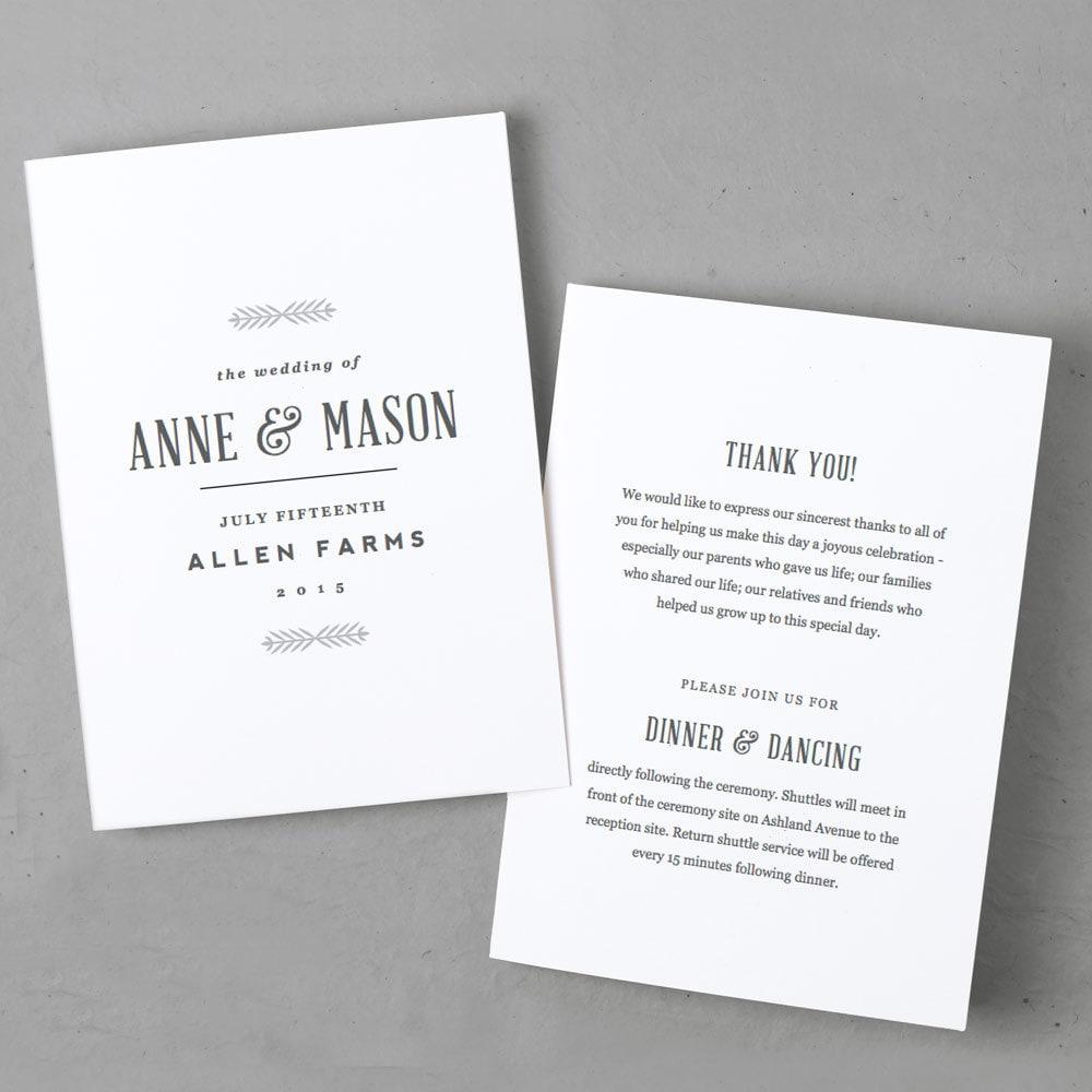 editable wedding program template instant download rustic