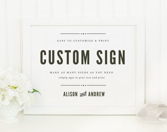 Printable Wedding Sign | INSTANT DOWNLOAD | Nightlife | Custom Wedding Sign | for Word or Pages Mac & PC | 11x8.5 | Wedding Decor