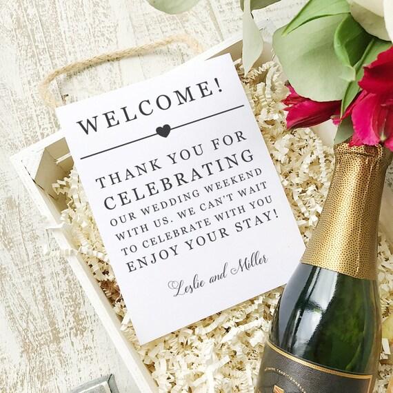 Hochzeit Begrüßung druckbare Hochzeit willkommen Tasche | Etsy