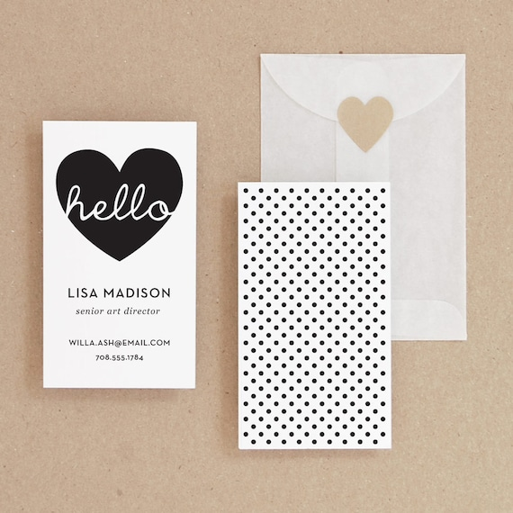 Instant Download Hello Diy Printable Business Card Etsy