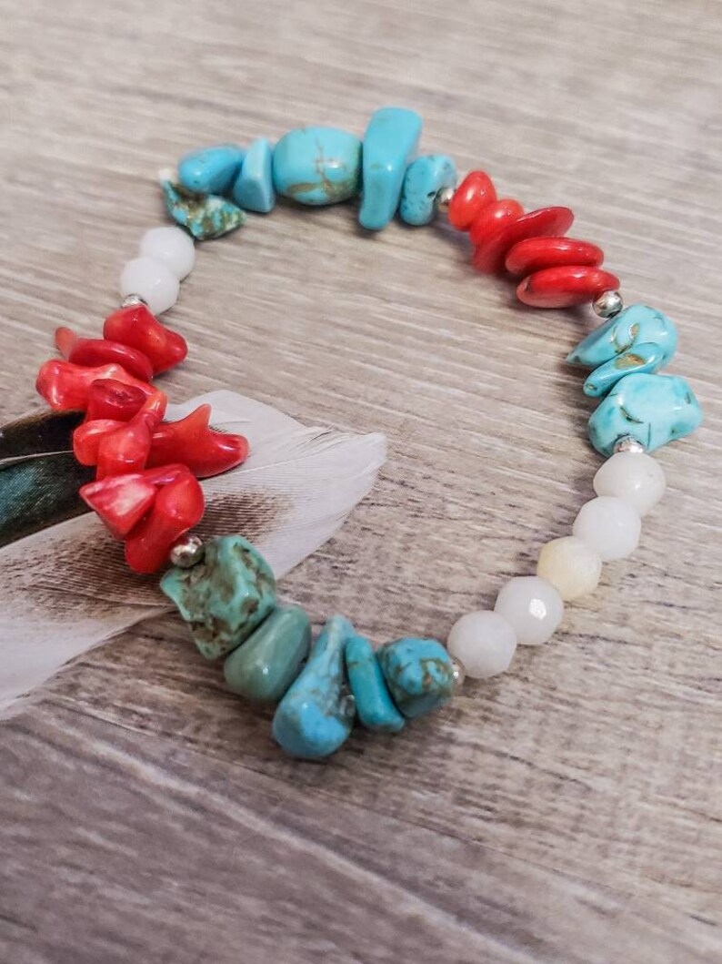 ocean vibes summer style coral beach vibes summer jewelry Mother/'s day gift beachy tropical jewelry
