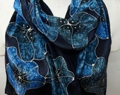 Bold Blue Moonflowers - H...