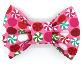 Peppermint Delight Snap-In Dog Bows® Bow Tie, Dog Bow Tie, Cat Bow Tie, Dog Bow, Dog Hair Bow, The Best Bow For Your Best Friend