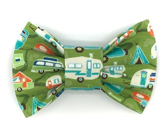 Camper Fun Snap-In Dog Bows® Bow Tie - Dog Bow Tie, Cat Bow Tie, Dog Bow, Dog Snap Bow, Dog Hair Bow, The Best Bow for Your Best Friend