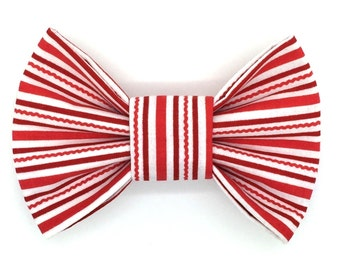 Candy Cane Lane Snap-In Dog Bows® Bow Tie, Dog Bow Tie, Cat Bow Tie, Dog Bow, Dog Hair Bow, The Best Bow For Your Best Friend