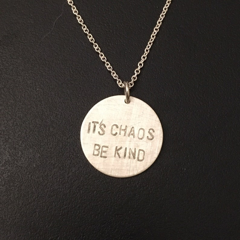 Its Chaos Be Kind necklace  sterling silver necklace true image 0