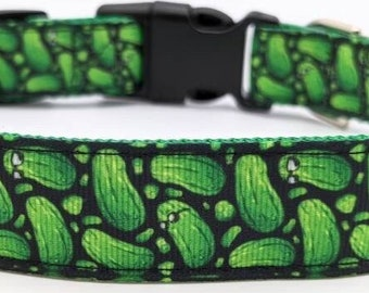 Pickle Dog Collar / Dill Pickles Cucumber Foodie Dog Gift