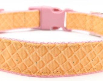 Waffle Dog Collar / Waffle Cone Ice Cream / Food Treats Snack