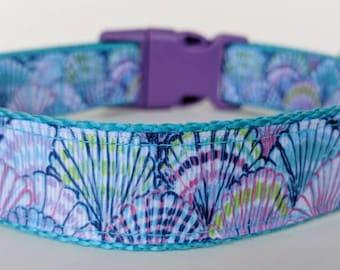 Seashells Dog Collar / Beach Dog Collar / Summer Dog Collar / Ocean Dog