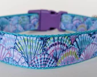 Seashells Dog Collar / Beach Dog Collar / Summer Dog Collar
