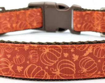 Pumpkin Patch Dog Collar / Fall Dog Collar / Halloween Dog Collar
