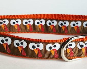 Gobbles the Turkey Dog Collar / Thanksgiving Dog Collar / Fall Dog Collar