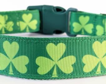 Shamrock Dog Collar / Lucky Irish Clover St. Patrick's Day Dog Collar
