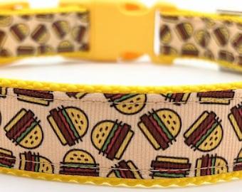 Burger Time Dog Collar / Cheeseburger Hamburger Fast Food