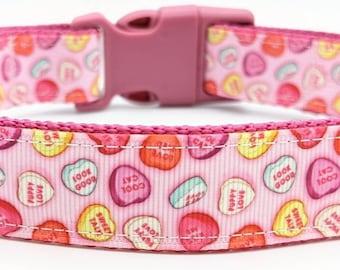 Candy Hearts Dog Collar / Valentine Conversation Hearts