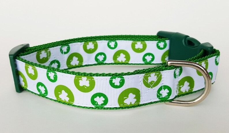 Lucky Clover Dog Collar / St. Patrick's Day / Irish Dog image 0
