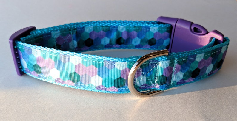 Geometric Mermaid Dog Collar image 0
