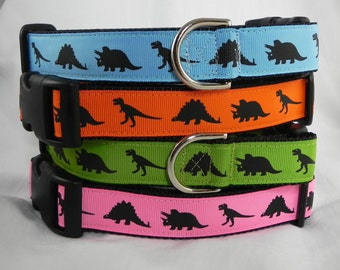 Pink Dinosaur Dog Collar