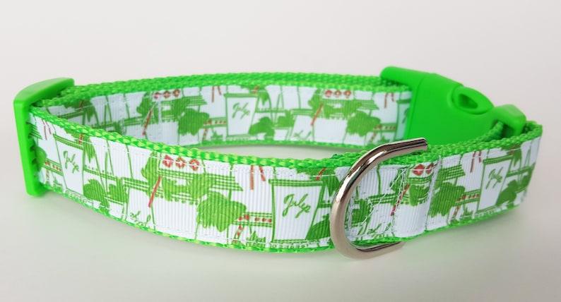 Mint Julep Dog Collar / Kentucky Derby Dog Collar / Summer Dog image 0