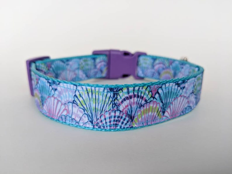 Seashells Dog Collar / Beach Dog Collar / Summer Dog Collar / image 0